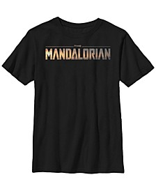 Fifth Sun Big Boy's The Mandalorian Title Fill Logo Short Sleeve T-Shirt
