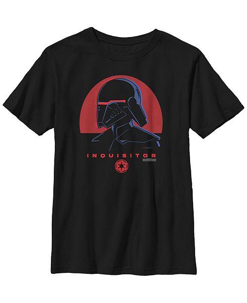 Star Wars Big Boys Jedi Fallen Order Red Sun inquisitor Short Sleeve T-Shirt