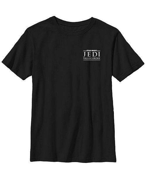 Star Wars Big Boys Jedi Fallen Order Left Chest Logo Short Sleeve T-Shirt
