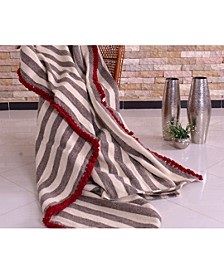 Coarse Wool Handwoven Blanket, Queen