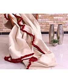 Coarse Wool Handwoven Blanket, Queen