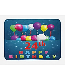24th Birthday Bath Mat