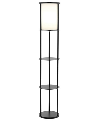 Adesso stewart shelf floor lamp lighting lamps for the home adesso stewart shelf floor lamp mozeypictures Images