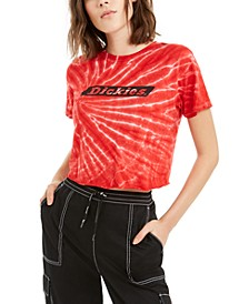 Juniors' Tie-Dye Cotton Cropped T-Shirt