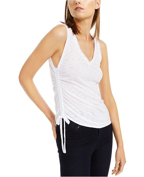INC International Concepts INC Side-Ruched Textured Top, Created For Macy's