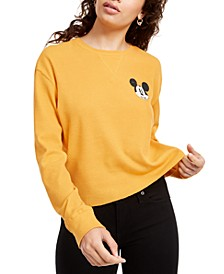 Juniors' Mickey Mouse Graphic-Print Thermal Top