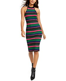 Juniors' Halter Stripe Dress
