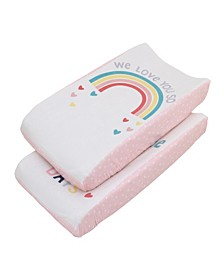 Rainbow Photo-Op Changing Pad Cover 2-Pack
