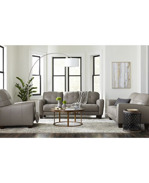 Prime Kaleb Tufted Leather Sofa Collection Created For Macys Onthecornerstone Fun Painted Chair Ideas Images Onthecornerstoneorg