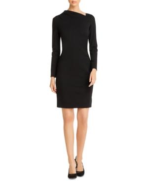 Elie Tahari Dresses MOZELLE ASYMMETRICAL-NECK SHEATH DRESS
