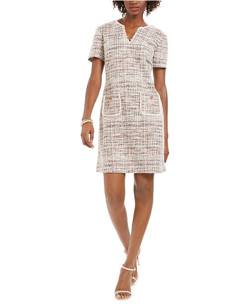 Connected Tweed Sheath Dress
