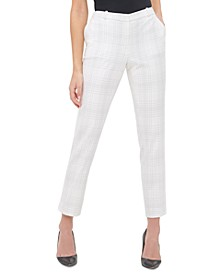 Radcliffe Plaid Slim-Fit Ankle Dress Pants