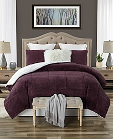 Exquisite Plush Faux Fur and Sherpa Reversible Comforter Set