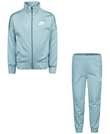 Little Girls 2-Pc. Logo-Taped Tricot Jacket & Pants Set