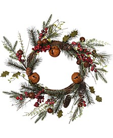 Christmas Rustic Bell Wreath