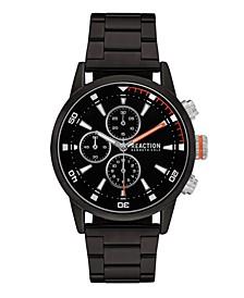 Men's Black Metal Bracelet Sport Watch, 46mm