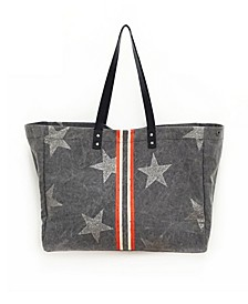 Tote Bag With Racing Stripe