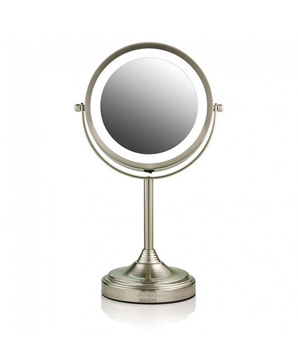 "OVENTE 7"" Dual Sided Tabletop Makeup Mirror with LED"