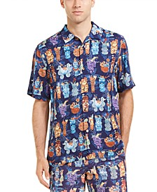 Men's Tiki Classic-Fit Printed Camp Shirt