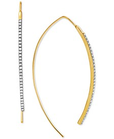 Diamond Curved Bar Threader Earrings (1/4 ct. t.w.) in 14k Gold