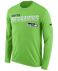 Men's Seattle Seahawks Sideline Legend Line of Scrimmage Long Sleeve T-Shirt