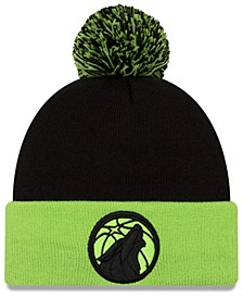 Minnesota Timberwolves Black Pop Knit Hat