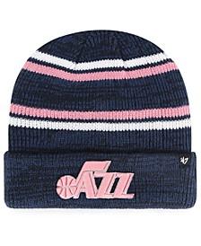 Utah Jazz Marled Stripe Cuff Knit Hat