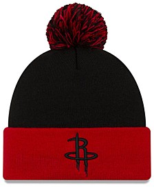 Houston Rockets Black Pop Knit Hat