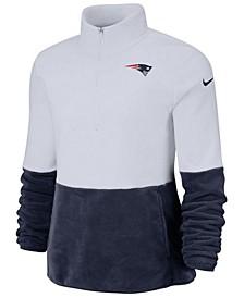 Women's New England Patriots Half-Zip Therma Fleece Pullover