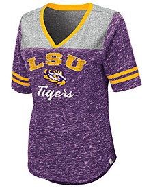 Women's LSU Tigers Mr Big V-neck T-Shirt