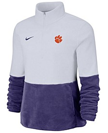 Women's Clemson Tigers Therma Long Sleeve Quarter-Zip Pullover