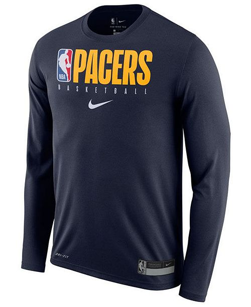 Nike Men's Indiana Pacers Team Practice Long Sleeve T-Shirt
