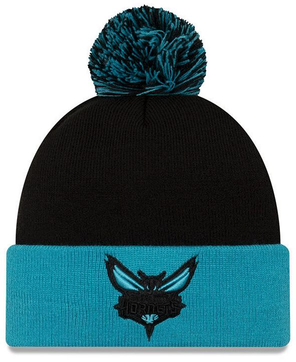 New Era Charlotte Hornets Black Pop Knit Hat