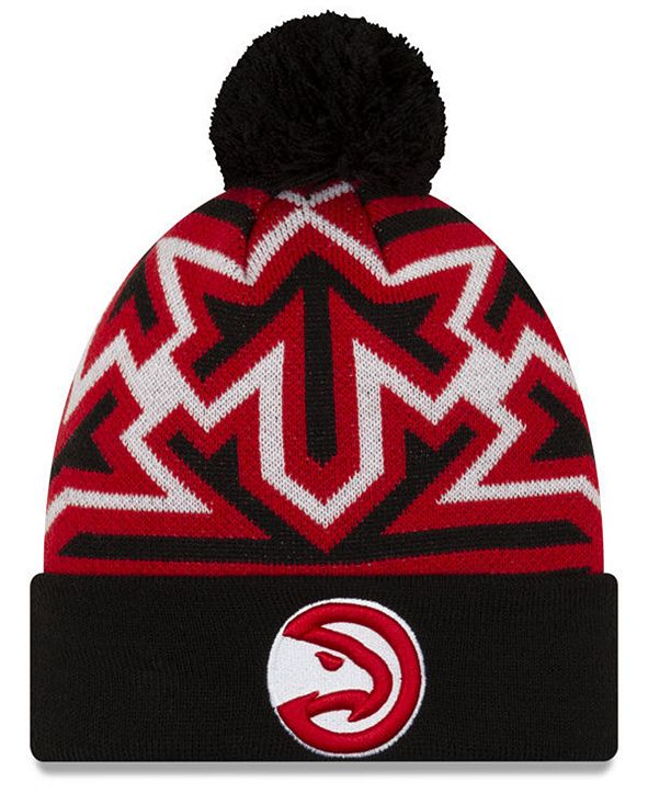New Era Atlanta Hawks Big Flake Pom Knit Hat