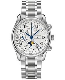 Men's Swiss Automatic Chronograph Master Stainless Steel Bracelet Watch 40mm