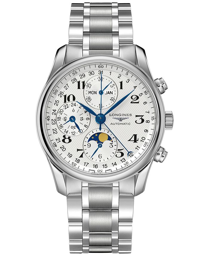 Longines - Men's Swiss Automatic Chronograph Master Stainless Steel Bracelet Watch 40mm