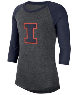 Nike Women's Illinois Fighting Illini Logo Raglan T-Shirt