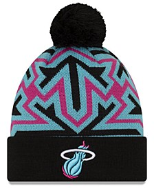 Miami Heat Big Flake Pom Knit Hat