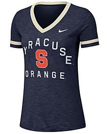 Women's Syracuse Orange Slub Fan V-Neck T-Shirt