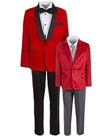 & Calvin Klein Red Velvet Suit Separates & Sets