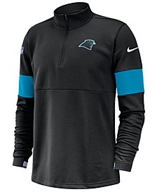 Men's Carolina Panthers Sideline Therma-Fit Half-Zip Top