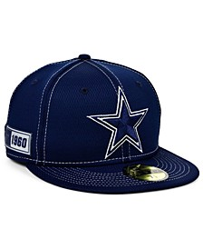 Little Boys Dallas Cowboys On-Field Sideline Road 59FIFTY Fitted Cap