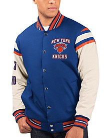 Men's New York Knicks Victory Formation Commemorative Varsity Jacket