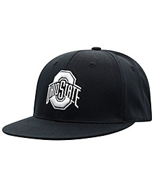 Ohio State Buckeyes Black White Core Snapback Cap