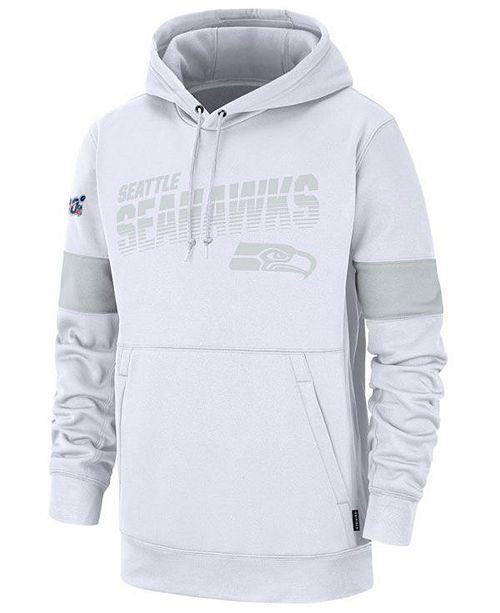 Nike Men's Seattle Seahawks 100th Anniversary Sideline Line of Scrimmage Therma Hoodie