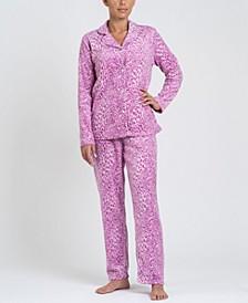 Notch Collar Pajama Set, Online Only
