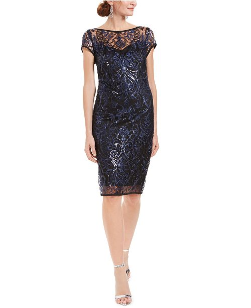 Connected Embellished Lace Dress