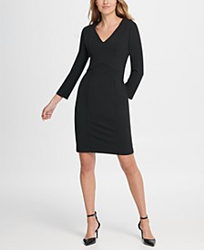 Long Sleeve Empire Waist Sheath Dress