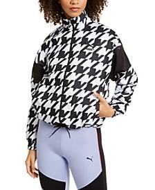 Print-Blocked Track Jacket