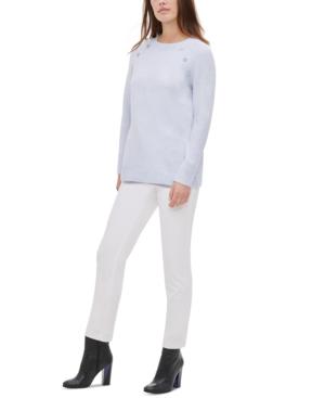 Calvin Klein Sweaters BUTTON-DETAIL CREWNECK SWEATER